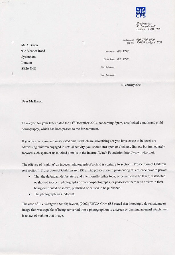 CPS CHILD PORN LETTER - page 1